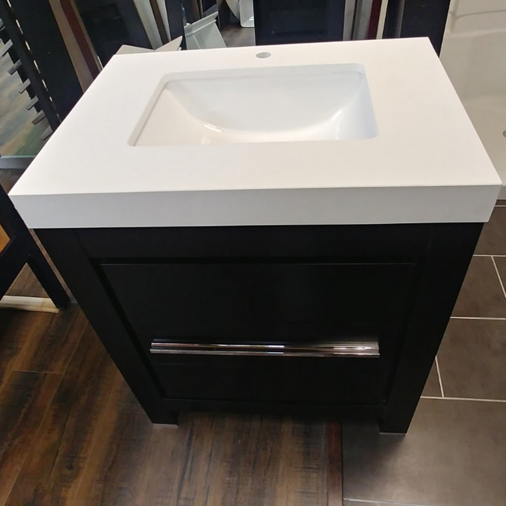 CBTI-2022 Espresso Vanity with Pure White Quartz Countertop