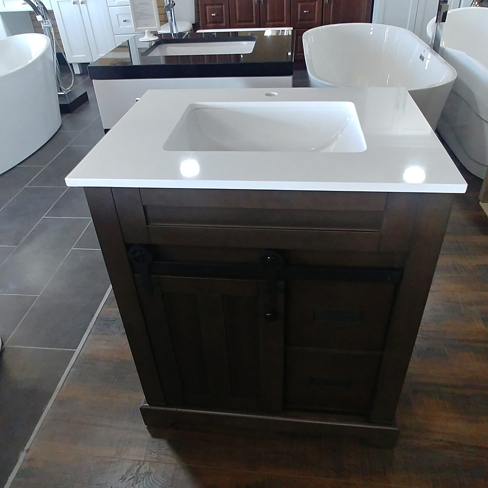 CBTI-2023 Washgrey Vanity with Pure White Quartz Countertop