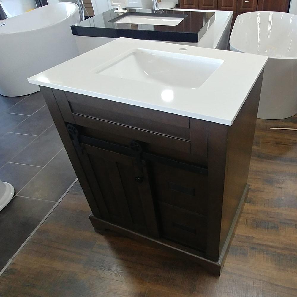 CBTI-2023 Washgrey Vanity with Pure White Quartz Countertop